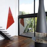 Luxusní designový radiátor Triangle z Olycale kamene - v interiéru