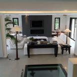 Luxusní designový radiátor Unis z Olycale kamene - v interiéru