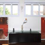 Luxusní designový radiátor Dock 34 z Olycale kamene - v interiéru