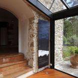 Luxusní designový radiátor Blue Cargo z Olycale kamene - v interiéru