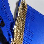 Luxusní designový radiátor Blue Gold z Olycale kamene - detail