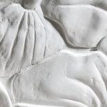 Luxusní designový radiátor Art Nouveau z Olycale kamene - detail