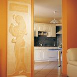 Luxusní designový radiátor Egyptienne z Olycale kamene - v interiéru