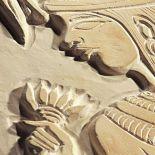 Luxusní designový radiátor Egyptienne z Olycale kamene - detail