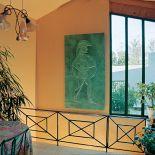 Luxusní designový radiátor Grec z Olycale kamene - v interiéru