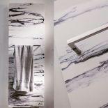 Luxusní designový sušič ručníků Marble Baron 130 z Olycale kamene