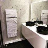 Luxusní sušák na ručníky s radiátorem z Olycale kamene Edo Bath, od výrobce Cinier