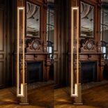 Moderní LED osvětlení zasazené do dřevěného rámu od výrobce CInier