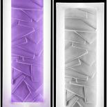 Luxusní designové nástěnné světlo Edo LT s předním panelem z Olycale kamene